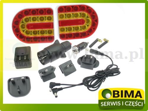 Lampy Led Do Przyczepy Bezprzewodowe Mocowanie Na Magnes Zestaw Oświetlenia Bima9083